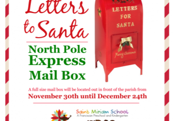 Send Your Letters to Santa! – November 30th to December 24th