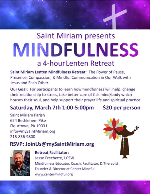 Saint Miriam Lenten Mindfulness Retreat Tickets